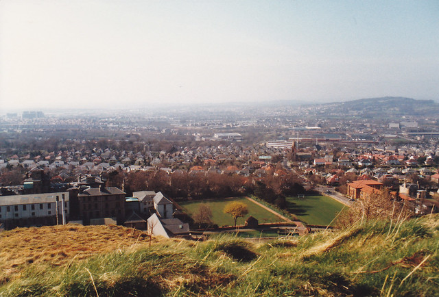 view from Craiglockhart Hill, April 1988