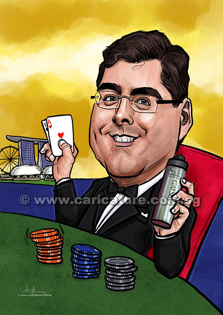 BlackJack winner digital caricature for Exxonmobil (watermarked)