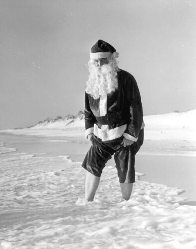 Santa Claus at the beach: Panama City Beach, Florida | by State Library and Archives of Florida