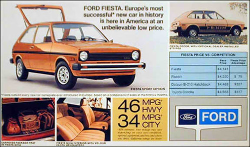 1979 ford fiesta bright orange handed down from dad to