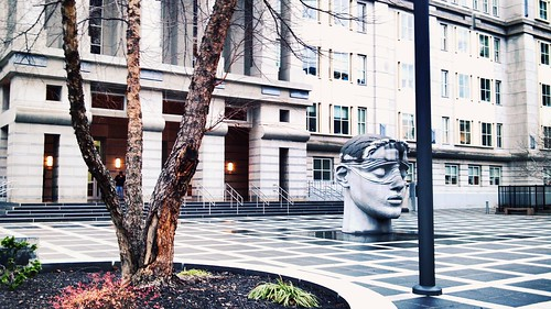 Blind justice and plaza, Federal courthouse, Newark | by Ron Coleman