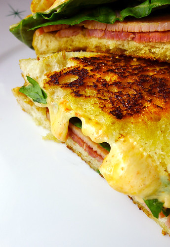 grilled pimento cheese sandwich | with country ham and ...