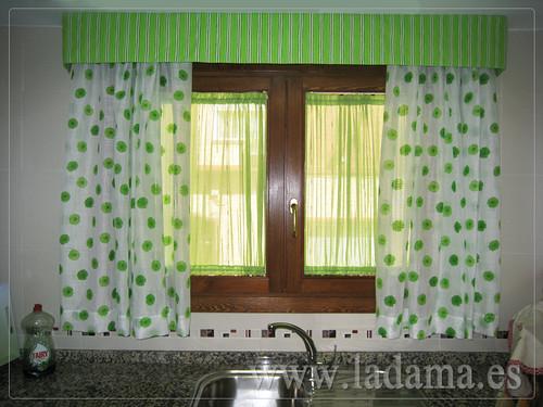 Cortinas para cocina visillos y estores con tejidos color - Cortinas y visillos ...