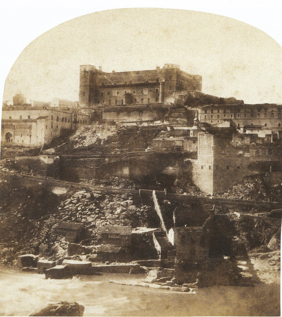 Artificio de Juanelo y Alcázar en 1856. Fotografía de Joseph Carpentier