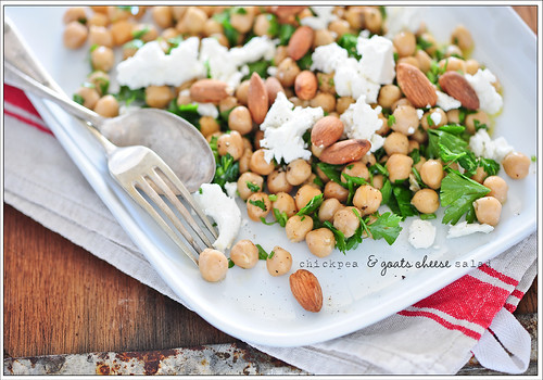 chickpea & goats cheese salad | by jules:stonesoup