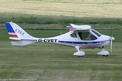 G-CVET - 2011 build Flight Design CTLS, arriving on Runway 08R at Barton