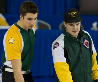 Napanee, ON Feb 12 2011 M&M Canadian Juniors Team NO Skip Brennan Wark with Third Kristofer Leupen. Michael Burns Photo Ltd. | by seasonofchampions