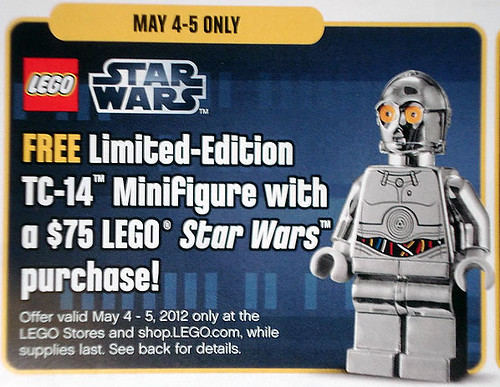 Exclusive TC-14 Minifigure with $75 LEGO S@H Purchase May 4-5th | by fbtb