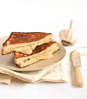 Roasted Garlic & Gruyere Cheese Toasties | by raspberri cupcakes