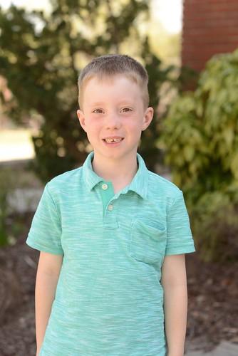 Evan Reid, first grader.