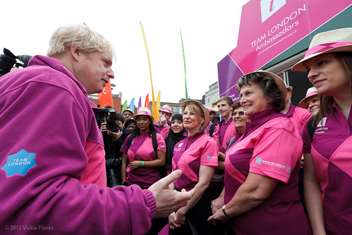 Mayor Boris Johnson meets Team London ambassadors to reveal their pink and purple Olympic Games uniforms - 16 March 2012 | by VickieFlores