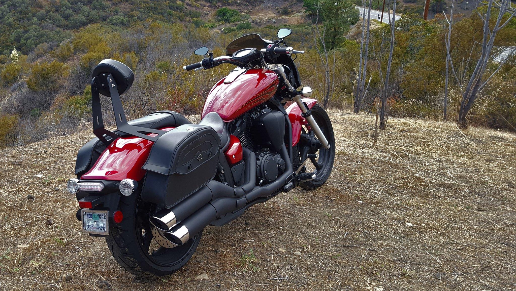 Viking bags yamaha star stryker motorcycle forum for Yamaha stryker saddlebags