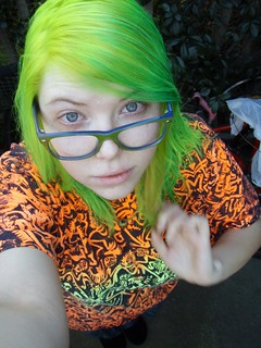 lime green hair | by Megan is me...