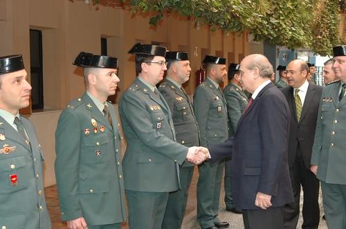 Visita del ministro del interior a la comandancia de la gu for Ministerio del interior guardia civil