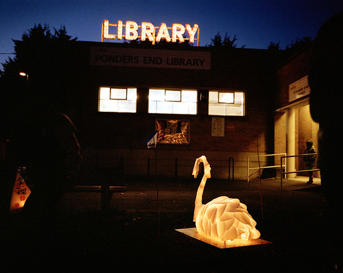 Illuminating the library, Ponders End | by London Gov