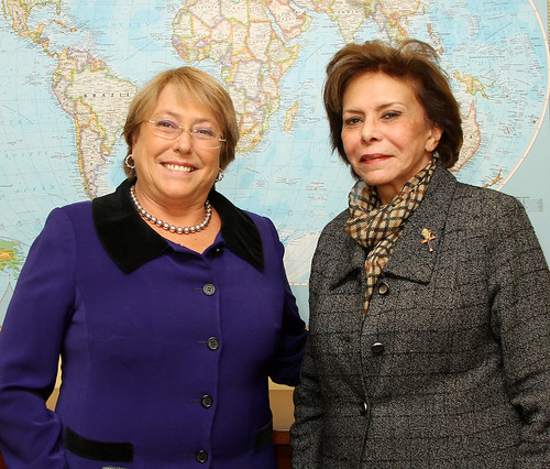 UN Women Executive Director Michelle Bachelet meets with Mervat Tallawy, President of the Egypcian National Council of Women | by UN Women Gallery