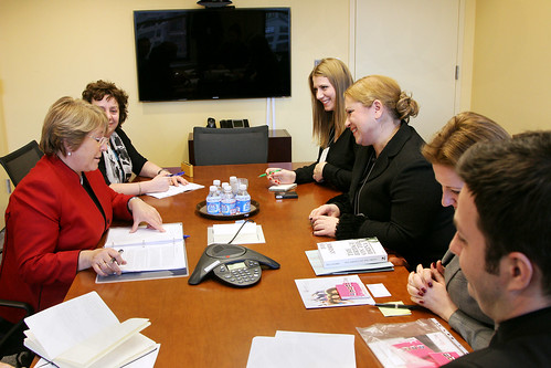 UN Women Executive Director Michelle Bachelet meets with Jasna Matic, State Secretary of the Ministry of Culture, Media and Information Society of the Republic of Serbia | by UN Women Gallery