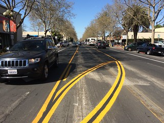 Road Diet restriping Lincoln Ave March 2015