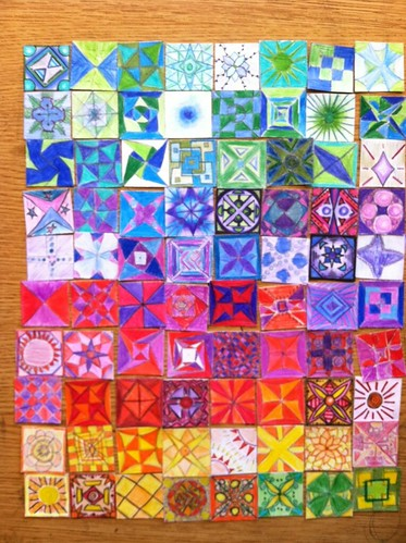 39 new eyes 39 paper quilt classroom art project at davinci for Geometricity project