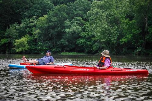 Kayaking and SUP on Saluda Lake-26