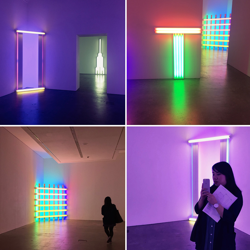 Dan Flavin Collage