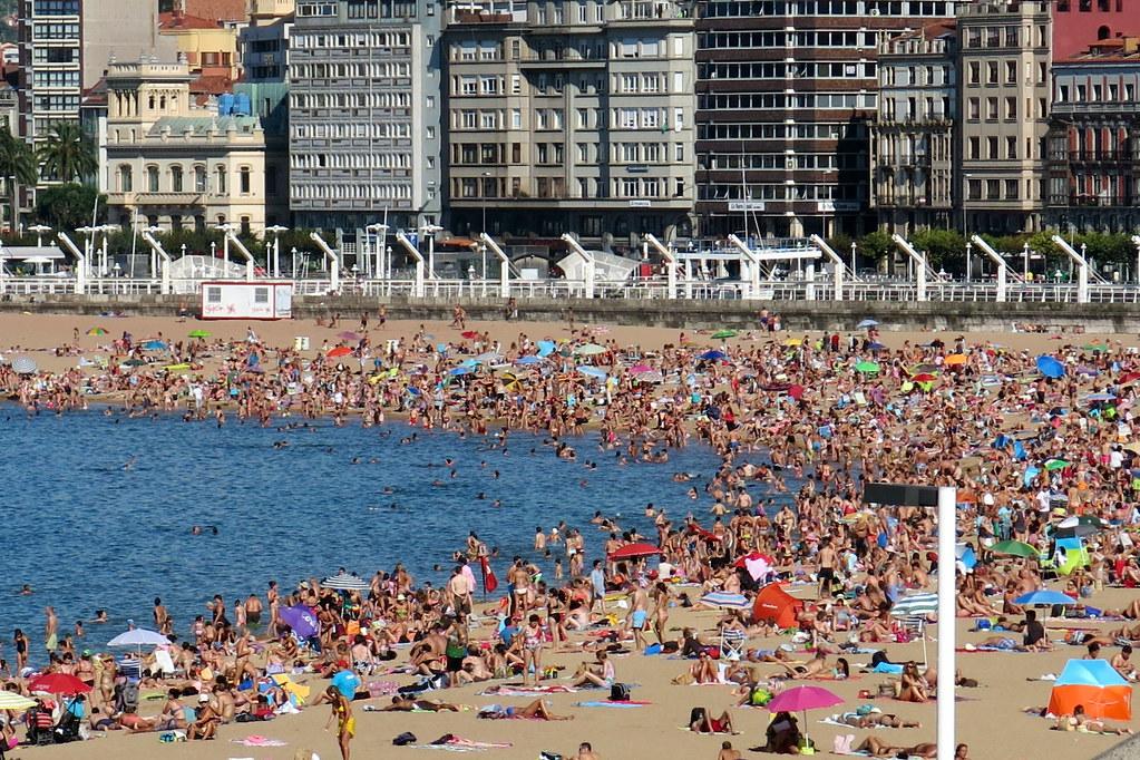 tarde de playa en Gijón