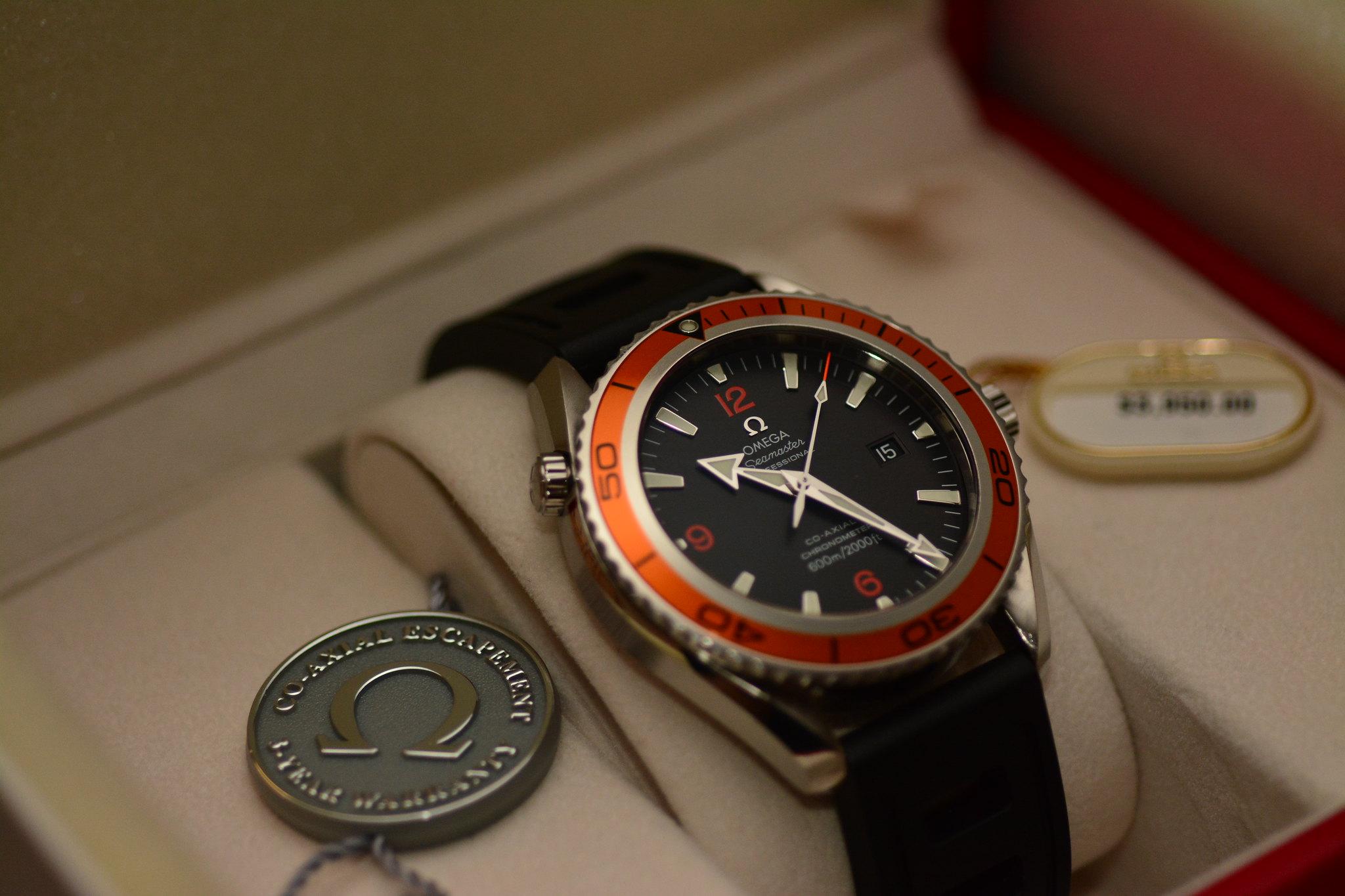 for sale omega planet ocean 2500 45 5 orange orange on isofrane