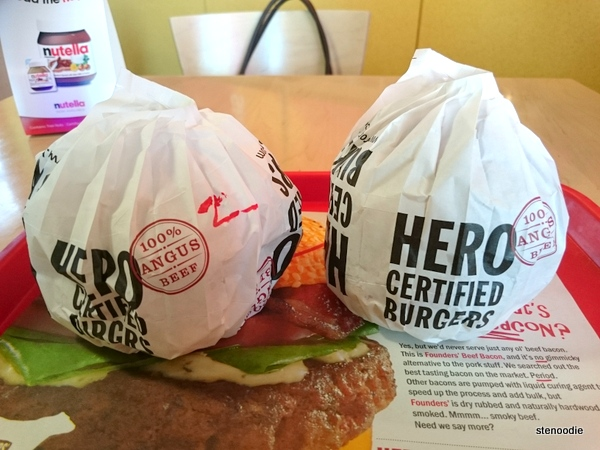 Hero Certified Burgers wrapping