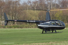 G-CDCV - 2004 build Robinson R44 Raven II, arriving at Barton