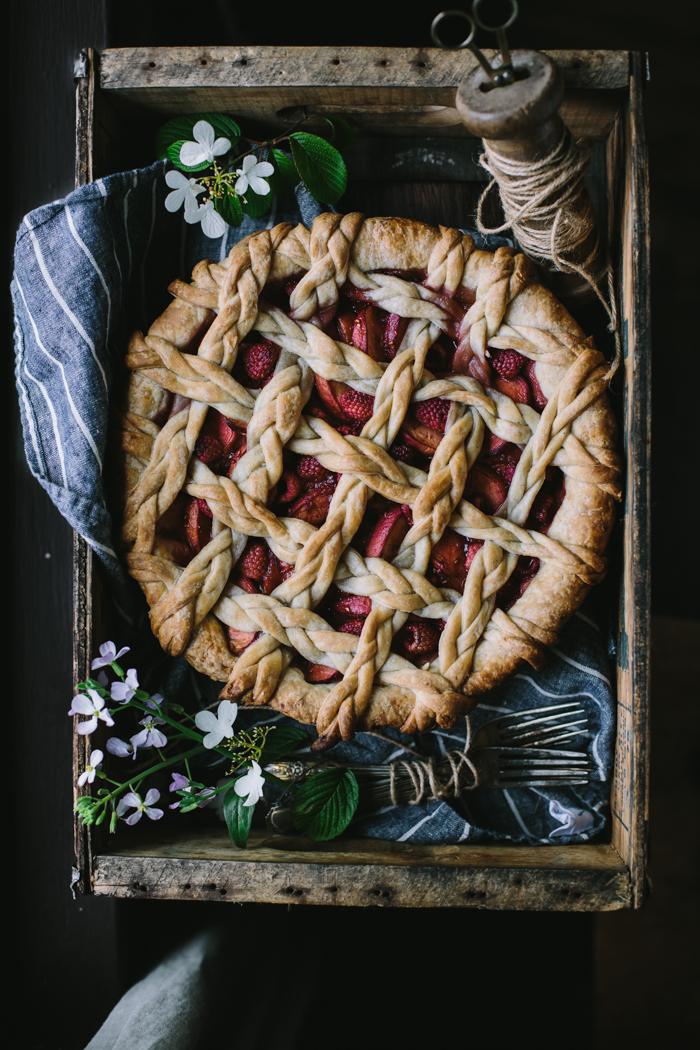 Golden Syrup Peach Pie by Eva Kosmas Flores | Adventures in Cooking