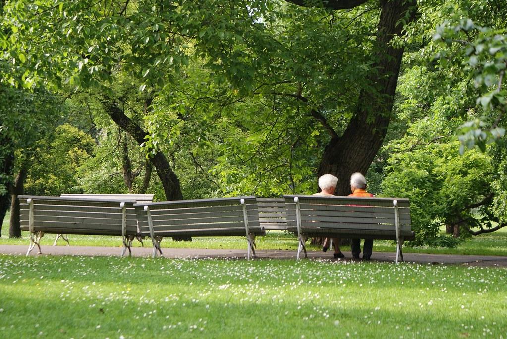 Le parc Vojanovy Sady dans le quartier de Mala Strana à Prague.