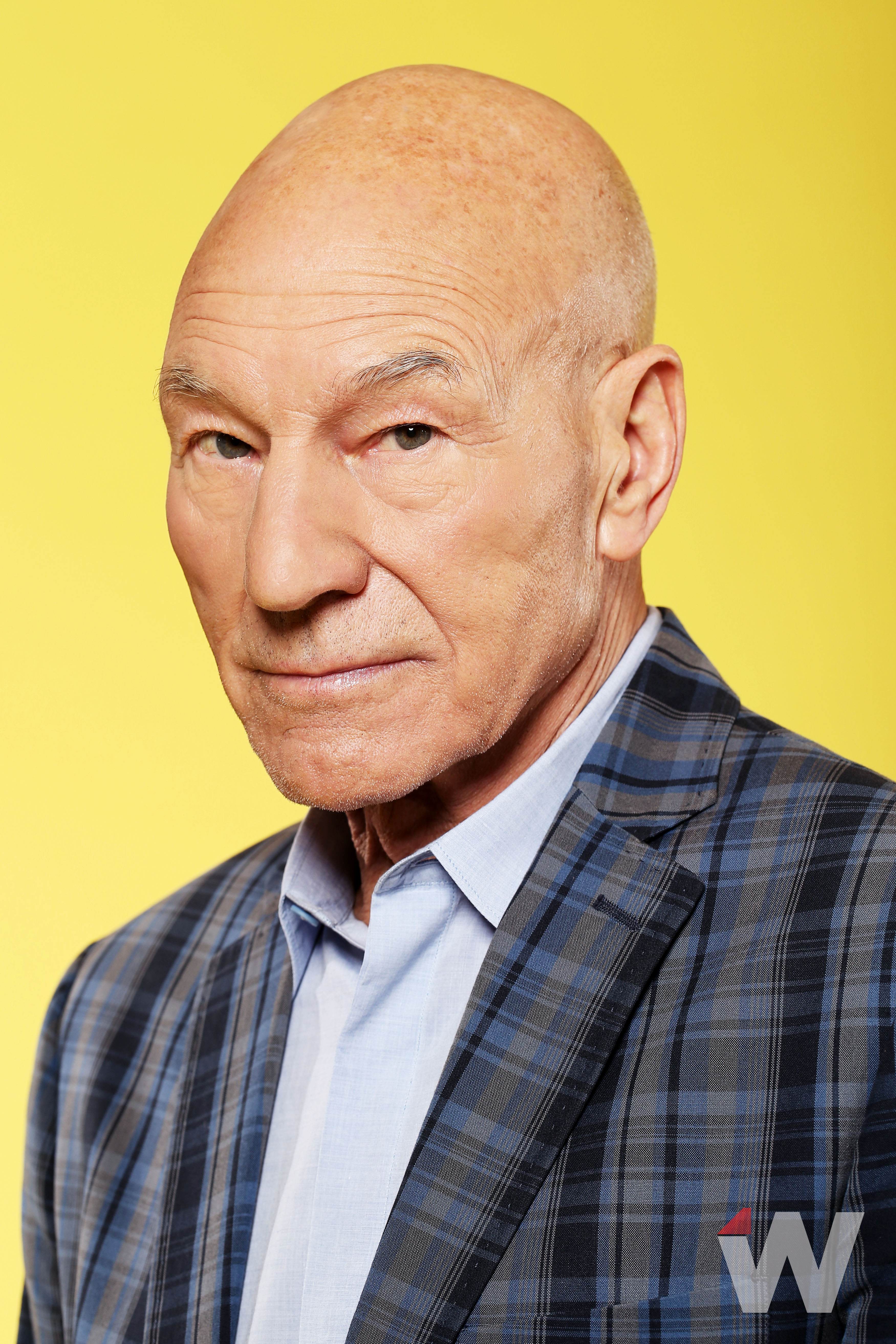 Emmy Contender Patrick Stewart Laughs It Up As Cop
