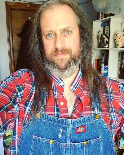 Sigh...I just wanna go home and write.... #writerproblems #amwriting #overalls #Dickies #bluedenim #plaid