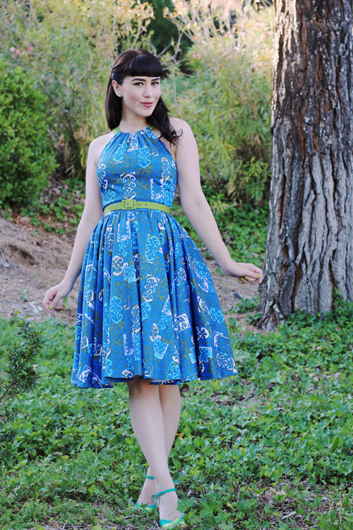 Pinup Girl Clothing Pinup Couture Harley Dress in 1960's Print