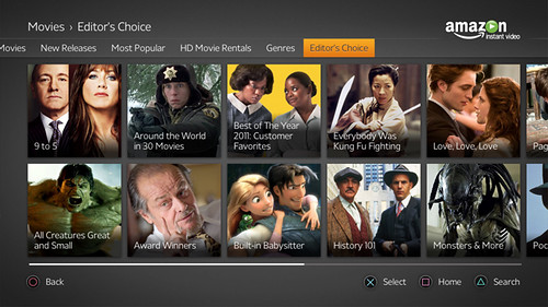 amazon instant video - genres | by PlayStation.Blog
