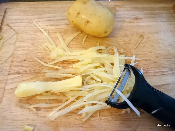 Yukon gold potatoes grated