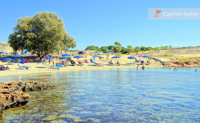 Пляж Аммос Камбури. Пляжи Кипра в районе Айя-Напы