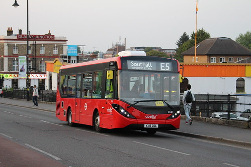 Abellio London 8143 on Route E5, Southall Station