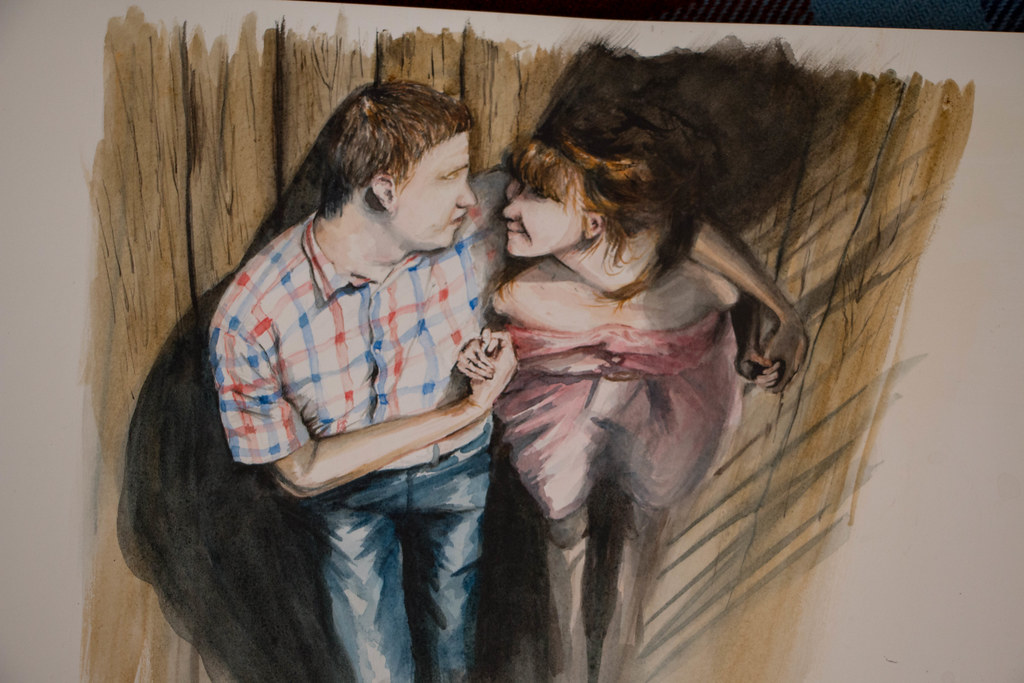 May 2016. Kate+Alex, watercolor
