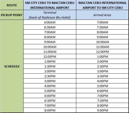 Cebu Travel Tip Commute To And From Mactan Cebu