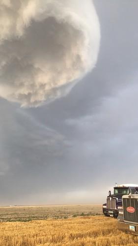 Weird looking clouds.