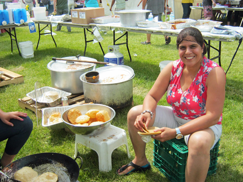 160626 KWMF East Indian Pappads Cook Stall
