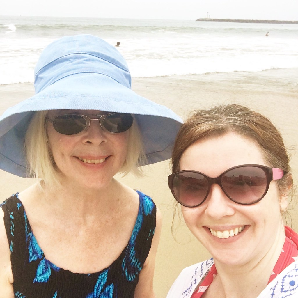 Mom and I at the ocean
