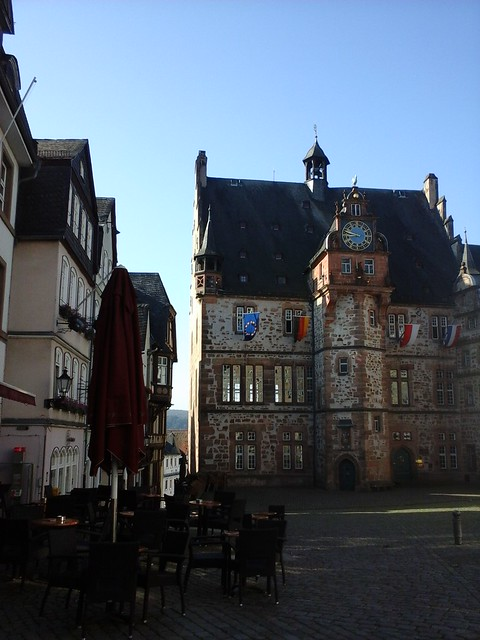 Hedgefairy: Marburg Market Place in the Morning