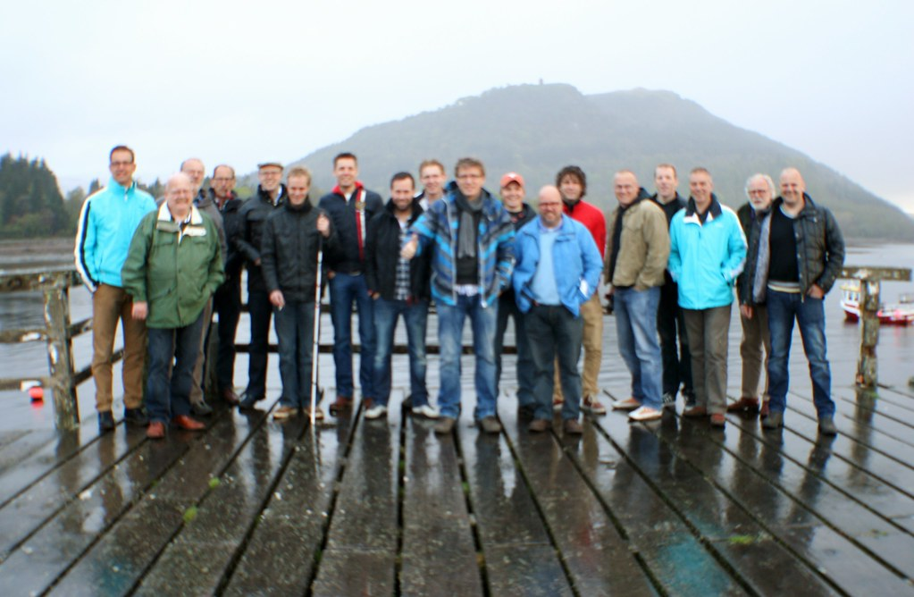 Tour group at Inveraray, Scotland