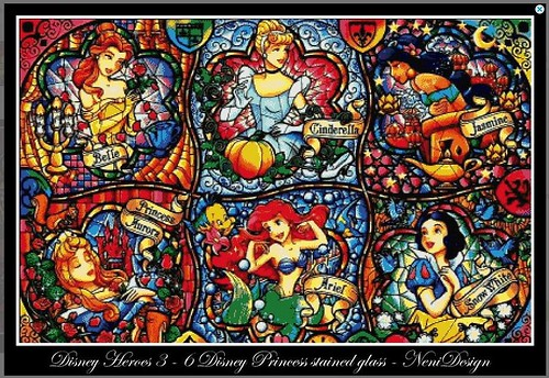 Disney Princess Stained Glass