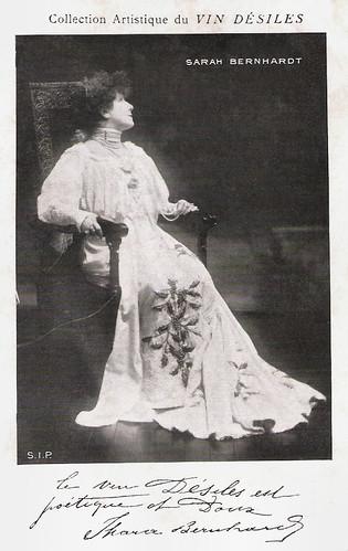 Sarah Bernhardt for Vin Désiles