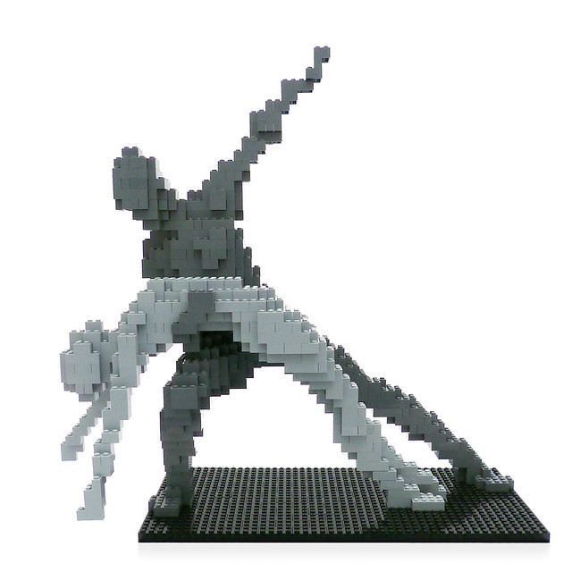 LEGO Sculpture - Swan Lake 1