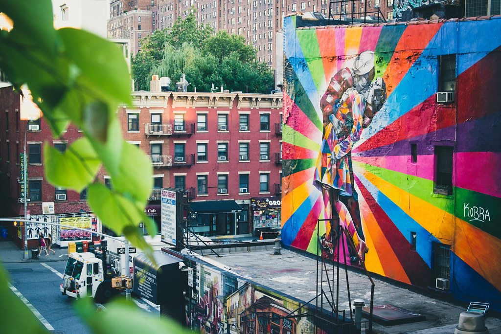 Eduardo Kobra Street Art on the Highline NYC