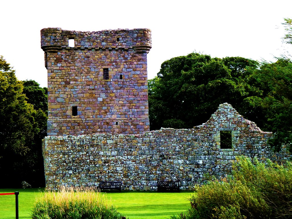 14th century Tower House at Lochleven Castle, Scotland.